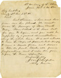 Military & Patriotic:Civil War, JOHN M. SCHOFIELD: CIVIL WAR-DATE AUTOGRAPH LETTER SIGNED....