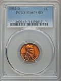 Lincoln Cents, 1952-D 1C MS67+ Red PCGS....
