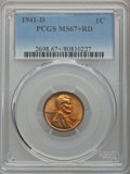 Lincoln Cents, 1941-D 1C MS67+ Red PCGS....