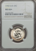 Washington Quarters, 1950-S/D 25C MS66+ NGC....