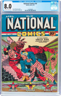 National Comics #10 (Quality, 1941) CGC VF 8.0 Off-white to white pages