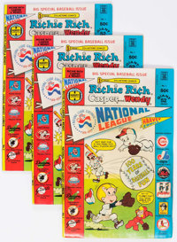 Richie Rich, Casper and Wendy National League #1 File Copies Box Lot(Harvey, 1976) Condition: Average VF