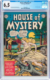 House of Mystery #1 (DC, 1952) CGC FN+ 6.5 Off-white pages