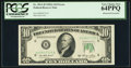 Error Notes:Obstruction Errors, Fr. 2011-H $10 1950A Federal Reserve Note. PCGS Very Choice New64PPQ.. ...