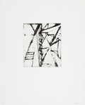 Prints:Contemporary, Brice Marden (b. 1938). Etchings to Rexroth, 19, 1986.Etching and sugarlift aquatint on wove paper. 7-7/8 x 6-7/8inche...