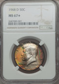 Kennedy Half Dollars, 1968-D 50C MS67 ★ NGC....