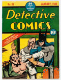 Golden Age (1938-1955):Superhero, Detective Comics #35 (DC, 1940) Condition: Apparent PR....