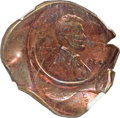 Errors, 1964 1C Lincoln Cent -- Triple Struck, Obverse Die Cap -- MS65 Red and Brown NGC....