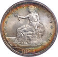 Trade Dollars, 1876-S T$1 Type One Obverse, Type Two Reverse, MS64 PCGS. CAC....