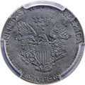 Errors, Undated $1 Silver Eagle -- Struck on a 3M Emery Disc -- MS63 PCGS....