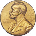 20th Century Tokens and Medals, 1963 Nobel Committee 23K Gold Medal, MS62 NGC. ...