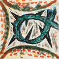 Paintings, Gregory Amenoff (American, b. 1948). Veil II, 1990. Monoprint. 16 x 16 inches (40.6 x 40.6 cm) (image). Signed, dated, a...