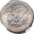 Errors, Undated $1 Anthony Dollar -- Reverse Half of Two Planchets Struck Together -- MS67 NGC....