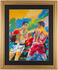 Boxing Collectibles:Memorabilia, Muhammad Ali vs. Leon Spinks Neiman Print....