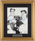 Baseball Collectibles:Photos, Sandy Koufax and Whitey Ford Signed Oversized Photograph....