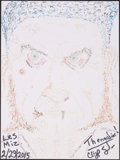 """Movie/TV Memorabilia:Autographs and Signed Items, Doodle for Hunger Benefiting St. Francis Food Pantries and Shelters. Cliff Saunders, Actor. 9"""" x 12"""" . Crayon and Marker ..."""