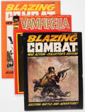 Magazines:Miscellaneous, Blazing Combat/Vampirella Group of 4 (Warren, 1965-70).... (Total:4 Comic Books)