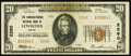 National Bank Notes:Maine, Lewiston, ME - $20 1929 Ty. 2 The Manufacturers NB Ch. # 2260. ...