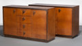 Furniture , Gilbert Rohde (American, 1894-1944). A Pair of Mansonia Sideboards, 1935, Herman Miller Furniture Company, Zeeland, Mich... (Total: 2 Items)