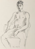 Works on Paper, Bror Utter (American, 1913-1993). Set of Three Portraits of Male Youth, 1970. Charcoal on paper, each. 16-1/2 x 12 inche... (Total: 3 Items)