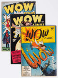 Golden Age (1938-1955):Miscellaneous, Wow Comics Group of 7 (Fawcett Publications, 1944-46) Condition: Average VG/FN.... (Total: 7 Comic Books)