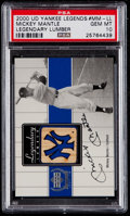 Baseball Cards:Singles (1970-Now), 2000 UD Yankee Legends Legendary Lumber Mickey Mantle #MM-LL PSA Gem Mint 10....
