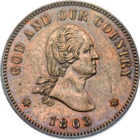 1863 2C Two Cents, Judd-305, Pollock-370, R.4, PR63 Brown PCGS. CAC....(PCGS# 60460)