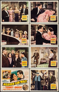 """Heaven Can Wait (20th Century Fox, 1943). Lobby Card Set of 8 (11"""" X 14""""). Comedy. ... (Total: 8 Items)"""