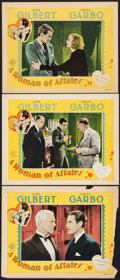 "Movie Posters:Drama, A Woman of Affairs (MGM, 1928). Lobby Cards (3) (11"" X 14""). Drama.. ... (Total: 3 Items)"