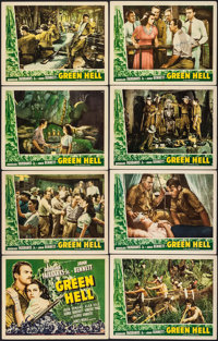 "Green Hell (Universal, 1940). Autographed Lobby Card Set of 8 (11"" X 14""). Adventure. ... (Total: 8 Items)"