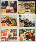 "Movie Posters:War, Sands of Iwo Jima (Republic, 1950). Title Lobby Card, Lobby Cards(4) (11"" X 14"") & Trimmed Lobby Card (10.5"" X 13.5""). War....(Total: 6 Items)"