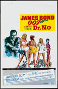 "Movie Posters:James Bond, Dr. No (United Artists, R-1970s). Belgian (13.75"" X 21.25""). James Bond.. ..."