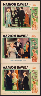 """Not So Dumb (MGM, 1930). Lobby Cards (2) (11"""" X 14"""") & Trimmed Lobby Card (11"""" X 13.75""""). Comedy..."""