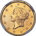 Gold Dollars, 1849-C G$1 Closed Wreath -- Improperly Cleaned -- NGC Details. Unc. Variety 1....
