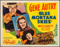 "Movie Posters:Western, Blue Montana Skies (Republic, 1939). Half Sheet (22"" X 28"") StyleA. Western.. ..."