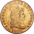 Early Half Eagles, 1800 $5 BD-4, R.4, AU53 PCGS....