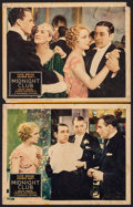 "Movie Posters:Crime, Midnight Club (Paramount, 1933). Lobby Cards (2) (11"" X 14"").Crime.. ... (Total: 2 Items)"