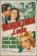 "Movie Posters:Comedy, Obliging Young Lady (RKO, 1942). One Sheet (27"" X 41""). Comedy....."