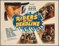 """Riders of the Deadline (United Artists, 1943). Half Sheet (22"""" X 28"""") Style A. Western"""