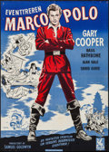 "Movie Posters:Adventure, The Adventures of Marco Polo (Globe Film, R-1949). Danish Poster(23.75"" X 33.5""). Adventure.. ..."