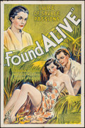 "Movie Posters:Drama, Found Alive (Excelsior, 1934). One Sheet (27"" X 41""). Drama.. ..."