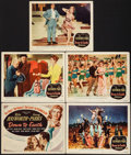 """Movie Posters:Musical, Down to Earth (Columbia, 1947). Title Lobby Card & Lobby Cards (4) (11"""" X 14""""). Musical.. ... (Total: 5 Items)"""