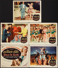 """Down to Earth (Columbia, 1947). Title Lobby Card & Lobby Cards (4) (11"""" X 14""""). Musical. ... (Total: 5 Ite..."""