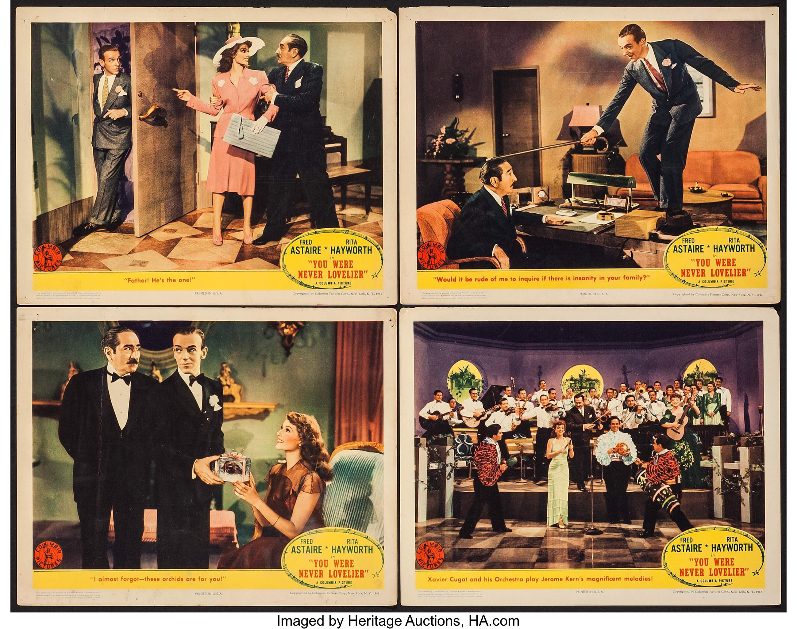 You Were Never Lovelier (Columbia, 1942)  Lobby Cards (4) (11