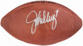 Football Collectibles:Balls, John Elway Signed Leather Wilson Football....