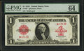 Large Size:Legal Tender Notes, Fr. 40* $1 1923 Legal Tender PMG Choice Uncirculated 64 EPQ.. ...