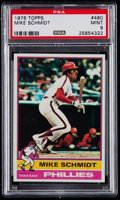 Baseball Cards:Singles (1970-Now), 1976 Topps Mike Schmidt #480 PSA Mint 9....