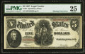 Error Notes:Large Size Errors, Fr. 91 $5 1907 Legal Tender PMG Very Fine 25.. ...