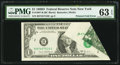 Error Notes:Foldovers, Fr. 1907-B $1 1969D Federal Reserve Note. PMG Choice Uncirculated63 EPQ.. ...