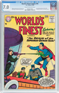 Silver Age (1956-1969):Superhero, World's Finest Comics #94 (DC, 1958) CGC FN/VF 7.0 Cream to off-white pages....